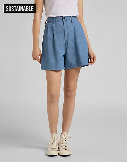 Stella Pleated Short in Light Linnen