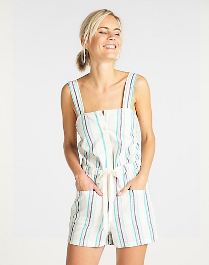 Cami Playsuit in Bright White