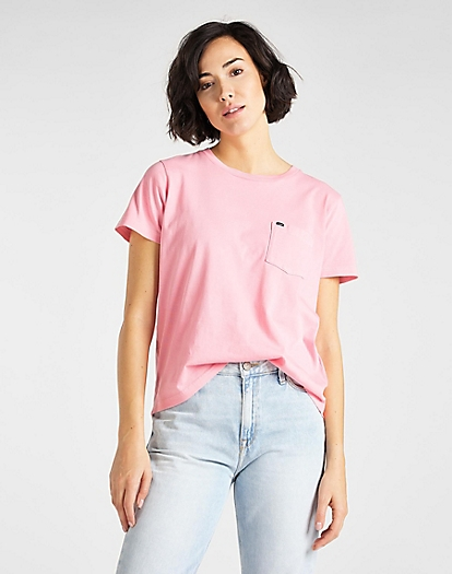 Garment Dyed Tee in La Pink
