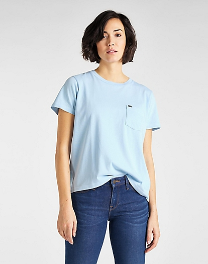 Garment Dyed Tee in Sky Blue