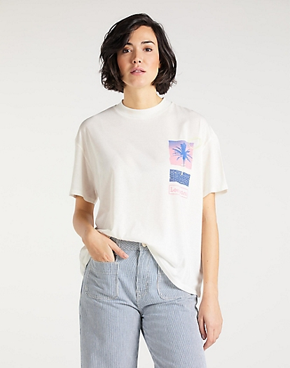 Oversized Tee in Ecru