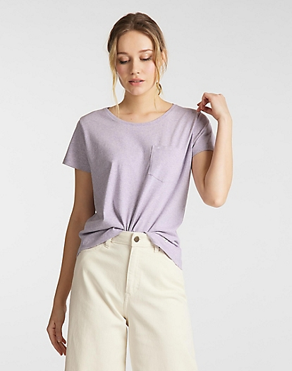 Sustainable Tee in Lavender Dusk