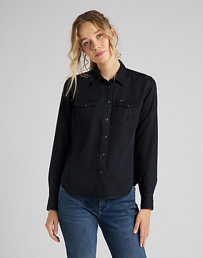 Regular Western Shirt in Sky Captain