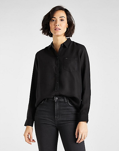 One Pocket Shirt in Black