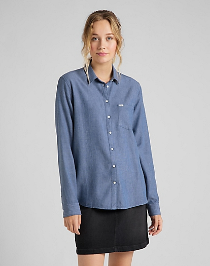 One Pocket Shirt in Lavender Dusk