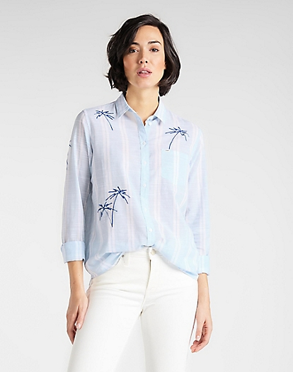 One Pocket Shirt in Sky Blue