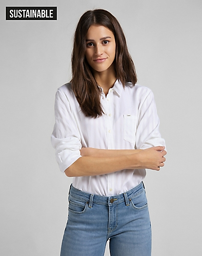 One Pocket Shirt in White