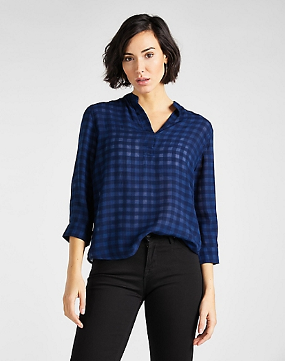 Blouse in Dark Navy