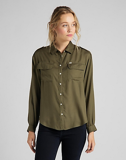 Utility Shirt in Olive Green