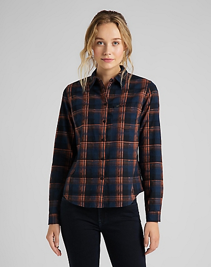 Regular Shirt in Washed Blue