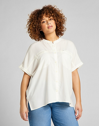 Cap Sleeve Shirt in Ecru