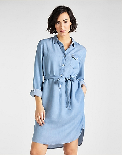 Tencel Denim Dress in Summer Blue
