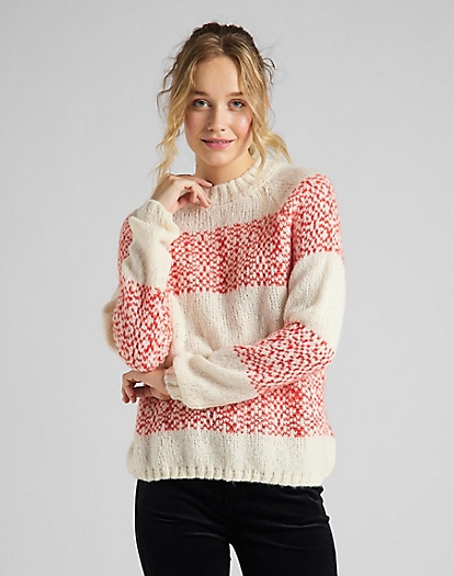 Highneck Chunky Knit in Ecru