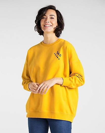 Elongated Sweatshirt in Golden Yellow