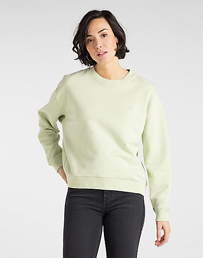 Crew Sweatshirt in Summer Green