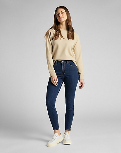 Plain Crew Neck Sweatshirt in Service Sand