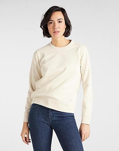 Sustainable Sweatshirt in Ecru Mele