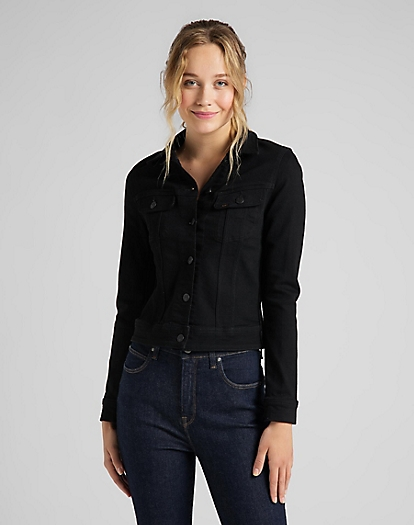 Slim Rider Jacket in Black Rinse