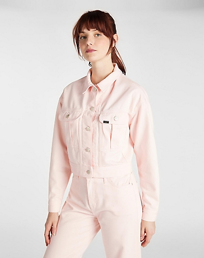 Cropped Jacket in Crystal Pink