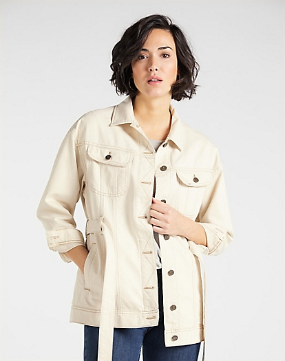 Belted Rider Jacket in Eco Rinse