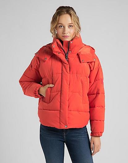 Puffer Jacket in Poinciana