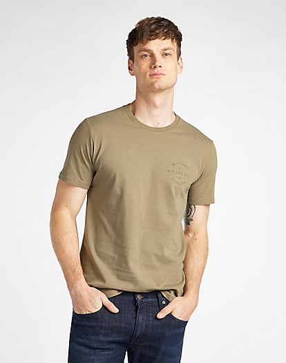 Workwear Tee in Utility Green