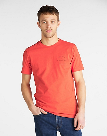 Workwear Tee in Poppy Red