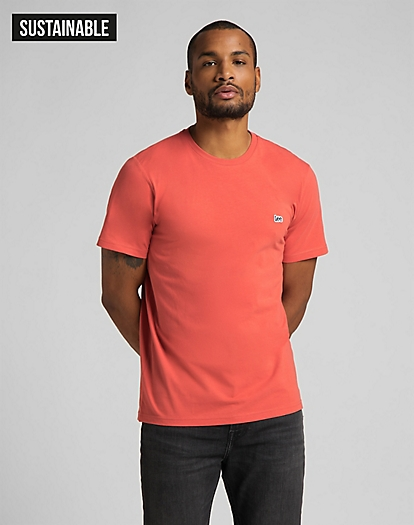 Patch Logo Tee in Washed Red