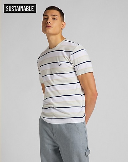 Stripe Tee in Dawn Blue