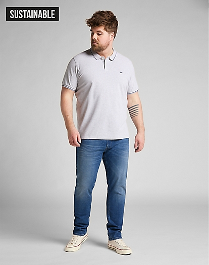 Pique Polo in Sharp Grey Mele
