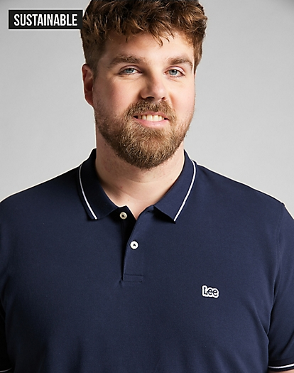 Pique Polo in Navy