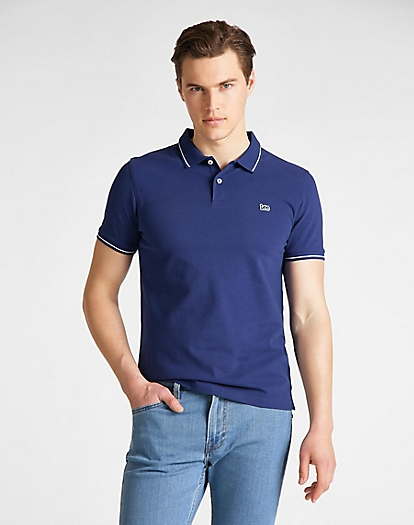 Pique Polo in Blueprint