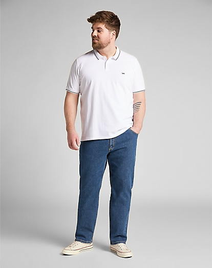 Pique Polo in Bright White