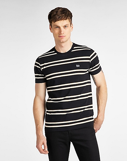 Basic Stripe Tee in Black