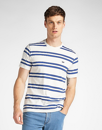 Basic Stripe Tee in Ecru