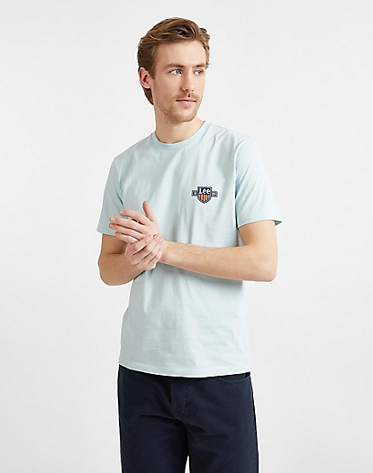 Chest Logo Tee in Sterling Blue