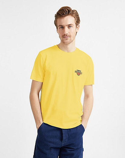 Chest Logo Tee in Sunshine