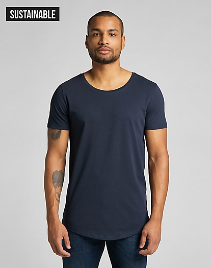Shaped Tee in Sky Captain