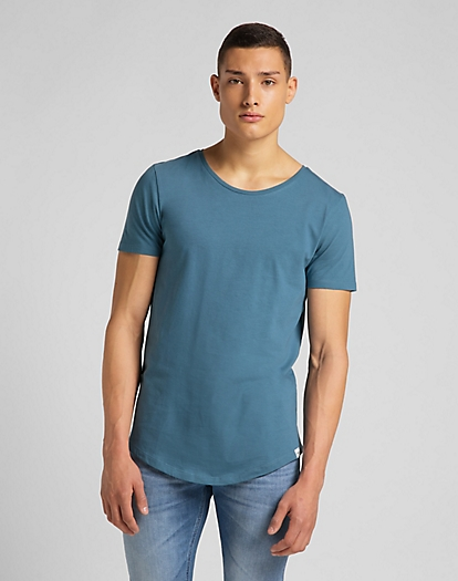 Shaped Tee in Teal