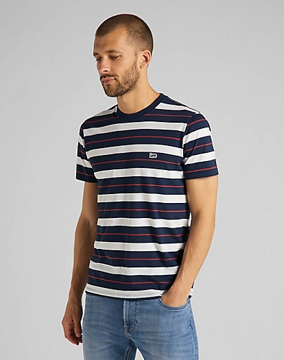 Stripe Tee in Navy