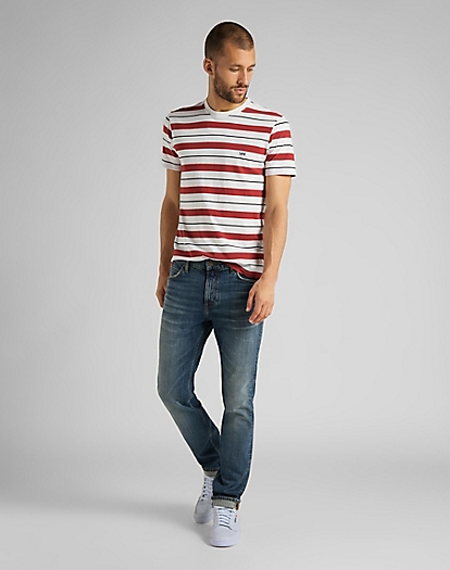 Stripe Tee in Red Ochre