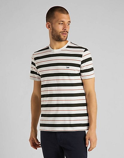 Stripe Tee in Serpico Green