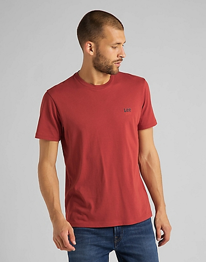 Small Logo Tee in Red Ochre