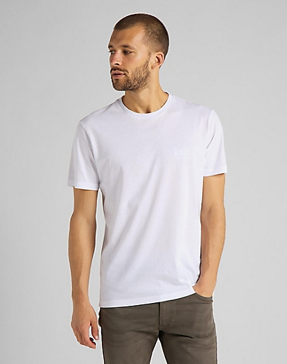 Tonal Flock Logo Tee in White