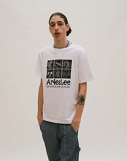 Lee x Aries Coin Tee in White