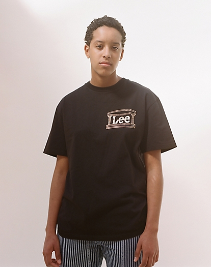Lee x Aries Temple Tee in Black
