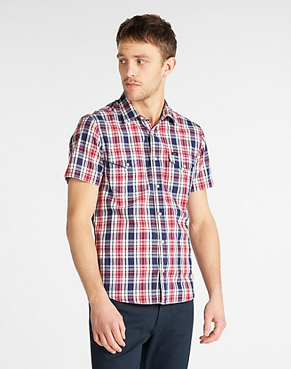 Short Sleeve Western Shirt in Blueprint