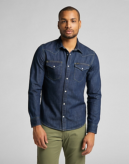 Western Shirt in Blueprint