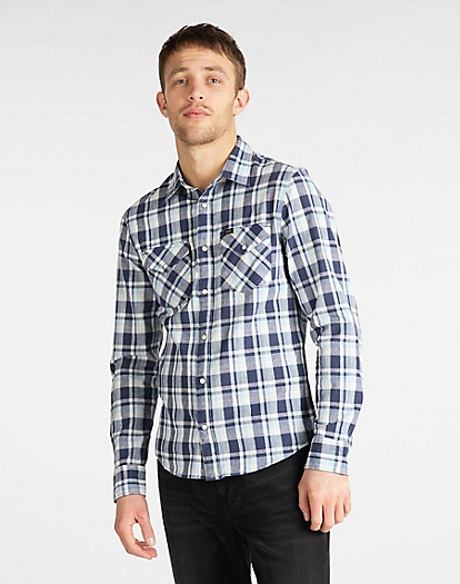 Clean Western Shirt in Navy
