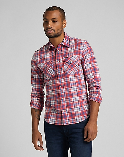 Clean Western Shirt in Aurora Red